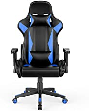 AmazonBasics BIFMA Certified Gaming/Racing Style Office Chair - with Removable Headrest and High Back Cushion