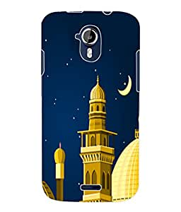 Fuson 3D Printed Masjid Designer Back Case Cover for Micromax Canvas Magnus A117 - D553