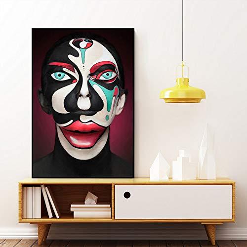 inwand Ölgemälde Kühle Gesicht Malerei Joker Wandkunst Bilder Poster und Drucke Für Zuhause Wohnzimmer DekorWohnzimmer ()