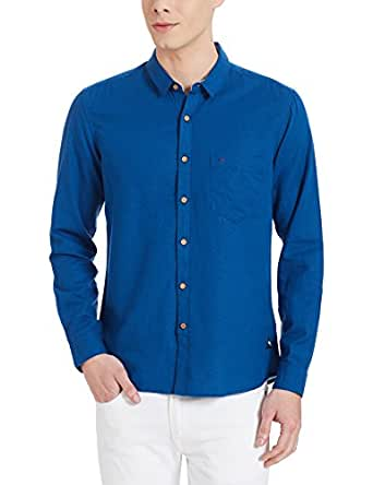 Indigo Nation Men's Casual Shirt (8907372629568_1ISE408239_39_Blue)