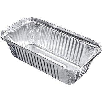Take Away/Cafe/cas rectangulaire en aluminium boîte - 688 ml 200 x 109 mm (Lot de 500) - Simple jetables alimentaire Service, idéal pour une utilisation professionnelle ou les fêtes