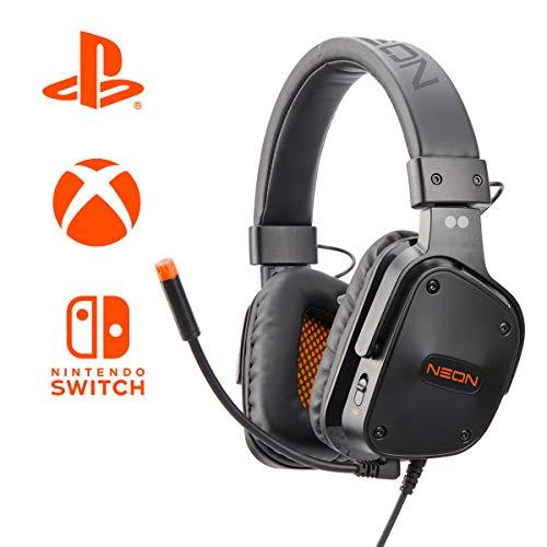 Neon Cuffie Gaming Multi 'Two dots' Piattaforma Speaker HD 40Mm con Quick Control per Volume e Microfono - PlayStation 4