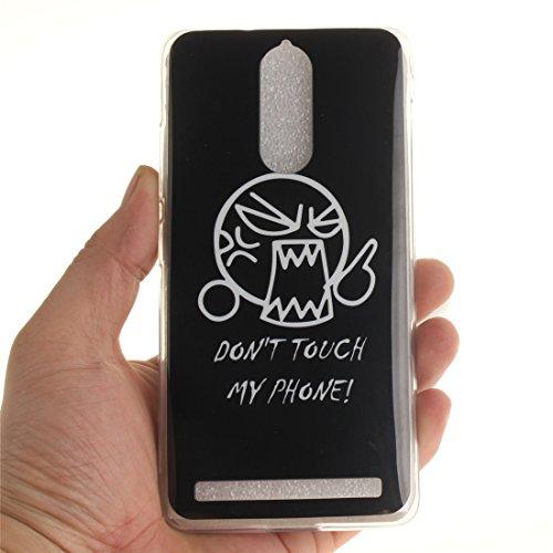 Coque Apple iphone 7 (4,7 pouces), Nancen Ultra Mince Etui Housse Couverture Souple TPU Silicone Case Coque de protection [Pissenlit] Don't touch my phone