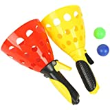 LEORX Catch And Toss Game Set Kids Plastic Ball Toy (Random Color)