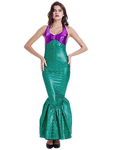Feynman Mujer Disfraces Vestido Sirena Halloween Fiesta