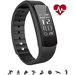 Pulsera Actividad Inteligente, IWOWNFIT Impermeable IP67 para Natación, Monitor de Actividad Sueño Ritmo Cardiaco Pasos Calorías Notificación, Control Cámara, Pulsómetro Reloj, Fitness Tracker …