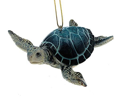 Globe Imports Blaue Meeresschildkröte Weihnachtsdekoration, 8,9 cm lang