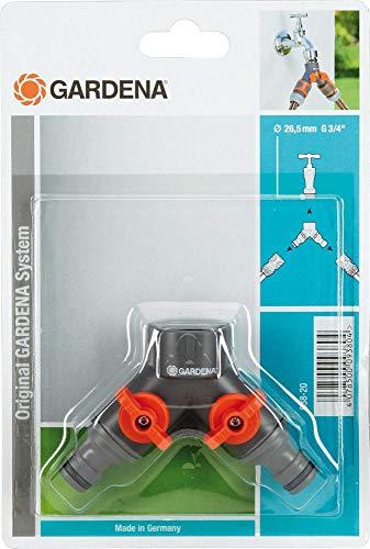 Gardena Robinet à 2 Voies 3/4-irrigazione raccords, Multicolore, Unique