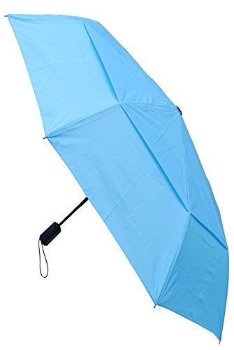 C&C LONDON - Paraguas Compacto - A PRUEBA DE VIENTO - FUERTE - Toldo Ventilado - ALTA TECNOLOGÍA PARA COMBATIR POSIBLES DAÑOS - Apertura y Cierre Automático - Pequeño - Plegable - Cielo Azul