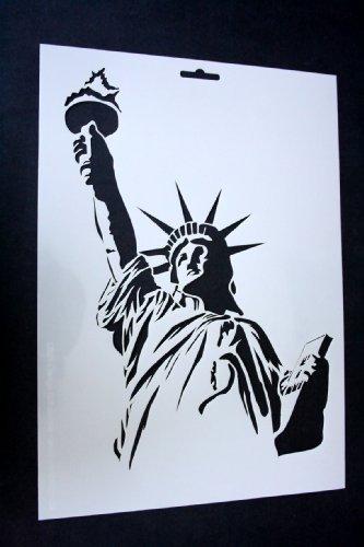 Schablone 125//µm wiederverwendbar aus Mylar New York Logo Airbrush Wand-Kunst
