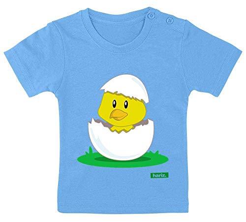 Heißes Thema Kostüm Link - HARIZ Baby T-Shirt Küken Schlüpft Tiere Zoo Plus Geschenkkarte Himmel Hell Blau 3-9 Monate / 60-69cm