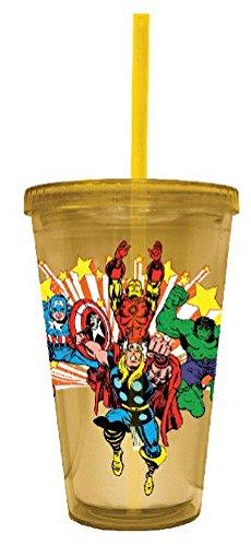 Tasse de voyage en plastique – Marvel – Carnaval acrylique Tasse jaune cc-mc-stars