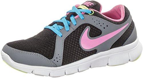 Nike Flex Experience (Gs), Chaussures de Running Entrainement fille Noir / Rouge / Bleu / Vert (Black / Red Violet-Vvd Bl-Vlt Ic)