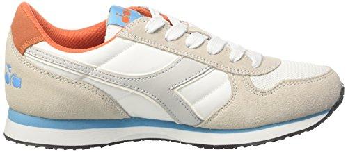 Diadora K-Run W, Sneaker a Collo Basso Donna Bianco (BCO/AZZ Ciano/Arancio Chiaro F)