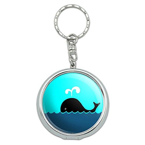 Portable Travel Größe Pocket Geldbörse Aschenbecher Schlüsselanhänger Sea Ocean Life Whale of a Time (Ocean Aschenbecher)