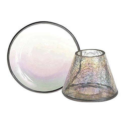 Yankee Candle Pearlescent Schirm und Teller, Glas, Perlmutt, 10 x 10 x 9.3 cm, 2-Einheiten