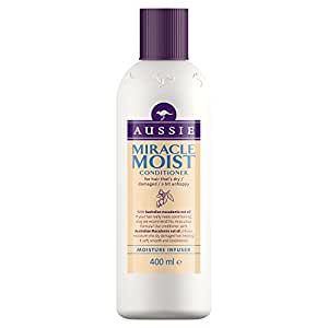 Aussie Conditioner Miracle Moist for Dry Damaged Hair, 400 ml