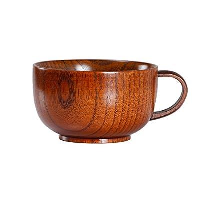 Oyl madera taza de café, japonés sopa cuenco, hecho a mano taza de té, 300ml