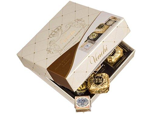 Venchi - Boîte cadeau avec assortiments de chocolats de qualité