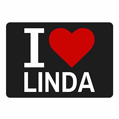Mousepad Classic I Love Linda schwarz
