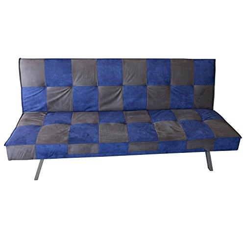 AVANTI-TRENDSTORE-Divano-grigioblu-con-funzione-letto-in-microfibra-ca-34x90x107-cm