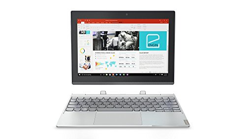 Lenovo Miix 320 25,7 cm (10,1 Zoll Full HD IPS Touch) Convertible Tablet-PC (Intel Atom Z8350, 4 GB RAM, 64GB eMMC, Windows 10 Home) silber inkl. Microsoft Office 365