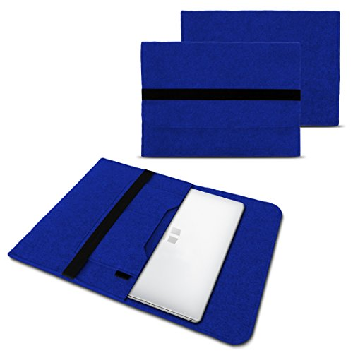 Trekstor Primebook C13 Notebook Sleeve Hülle Laptoptasche Schutzhülle 13,3 Zoll Laptop Filz Case, Farben:Blau