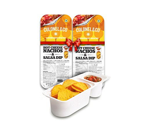 Colonel & Co Hot Cheese Nachos with Salsa, 75g (Pack...