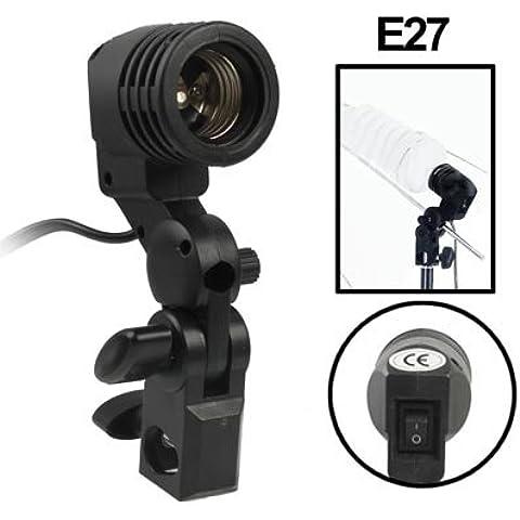 Clixsy E27 AC Socket Studio Luce Monte stand supporto dell'ombrello