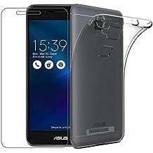 Cover Asus Zenfone 3 Max ZC520TL [Pellicola Protettiva in Vetro Temperato], Yoowei® Cristallo Chiaro Estremamente Sottile Trasparente Shock-Absorption Anti-Scratch per Asus Zenfone 3 Max 5.2 ZC520TL