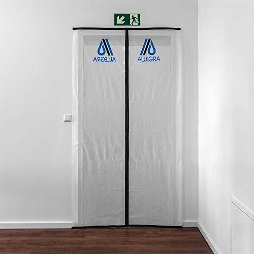 Staubschutztür Bautür mit Magnetverschluss aus atmungsaktivem Vlies, inkl. 5m Klebeband