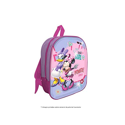 mc Zaino Led 3D Minnie Zainetto per Bambini, 32 cm, Rosa