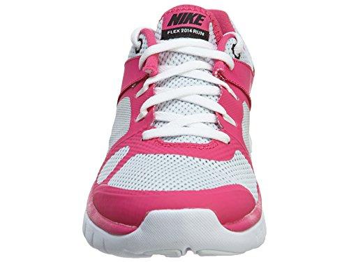 Nike Laufschuhe Flex 2014 Run (GS) Unisex Pure Platinum / Black- Pink- White