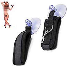 Ankle and wrist strap hook and suction cup strap restraint suit binding set handcuffs ankle cuffs thigh strap binding bondage adult toy binding