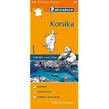 Michelin Korsika: Straßen- und Tourismuskarte 1:200.000 (MICHELIN Regionalkarten)