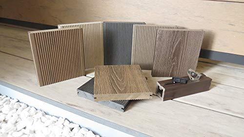 DeToWood Musterbox WPC MASSIVDIELEN,Terrassendielen mit Zubehör, HANDMUSTER