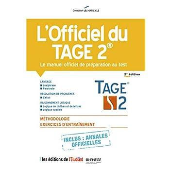 L'officiel du Tage 2 - Le manuel officiel de préparation au test 2e édition
