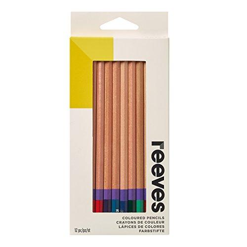 Reeves 8940535 Buntstifte Set, 12 Farbstifte, Hochwertige Kunst, Buntstifte für Kinder und Erwachsene, Künstler und Skizzenzeichner