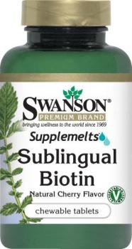 Swanson Sublingual Biotin, 5,000mcg (5mg), 60 Cherry Flavour Chewable Tablets (5,000mcg (5mg), 60 Cherry Flavour Chewable Tablets) from Swanson Health Products