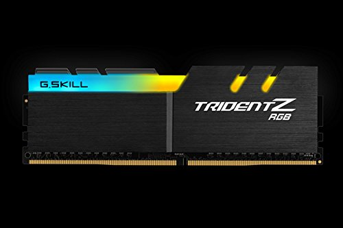 Great Buy for G.SKILL F4-3200C16Q-32GTZR Trident Z RGB Series 32 GB (8 GB x 4) DDR4 3200 MHz PC4-25600 CL16 Dual Channel Memory Kit – Black with full length RGB LED light bar Online