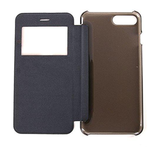 Hülle für iPhone 7 plus , Schutzhülle Für iPhone 7 Plus Horizontale Flip Leder Tasche mit Call Display ID ,hülle für iPhone 7 plus , case for iphone 7 plus ( Color : Gold ) Black