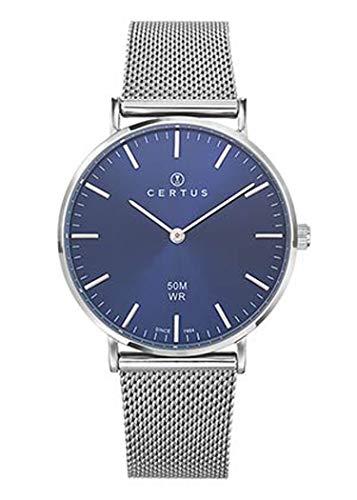 Certus–Reloj Mujer–h641m345–Pulsera Acero Milanais–Reloj Color Azul