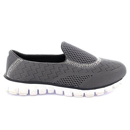 Femmes Get Fit Maille Go Fonctionnement Athlétique Marcher Chaussures Gris