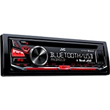 JVC KD-R784BT - Receptor de CD (tecnología inalámbrica Bluetooth y entrada frontal USB / AUX) rojo