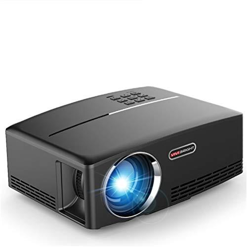 Beamer, Projektor,Heimkino Beamer, 1800 Lumens Videobeamer unterstützt 1080P Full HD, Kompatibel mit Spiel Konsole HDMI VGA SD AV und USB, Heimkino Projektor, Black (Tv-wandhalterung W Dvd-halterung)