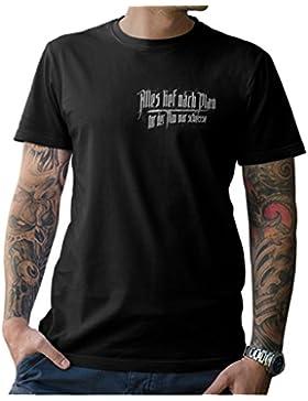 NG articlezz Todo lief Nach Plan – Nur Der Plan Guerra Mierda Camiseta EN el Oldschool Look Divertido Dicho Frontal...