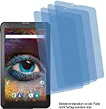 4X Crystal Clear klar Schutzfolie für Odys Pyro 7 Plus 3G Displayschutzfolie Bildschirmschutzfolie Schutzhülle Displayschutz Displayfolie Folie
