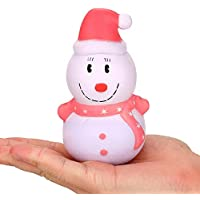 Juguetes de Compresión Juguetes de Descompresión Muñeco de Nieve de Navidad SquishiesKawaii para Adulto y Niño Lento Creciente Conjunto de Juguetes para Aliviar el Estrés Holatee