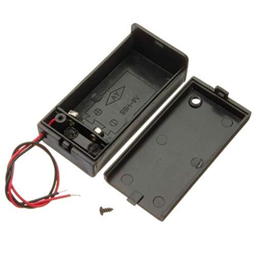 2Pcs 9V Battery Box Holder Pack Avec ON / OFF Interrupteur Basculer