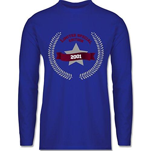 Shirtracer Geburtstag - 2001 Limited Special Edition - Herren Langarmshirt Royalblau